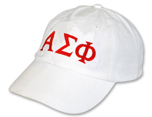 Alpha Sigma Phi Greek Letter Embroidered Hat