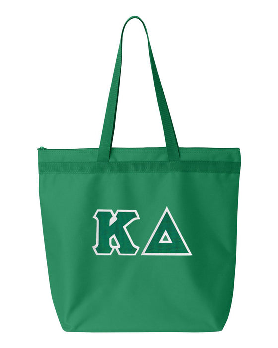 Kappa Delta Greek Lettered Game Day Tote