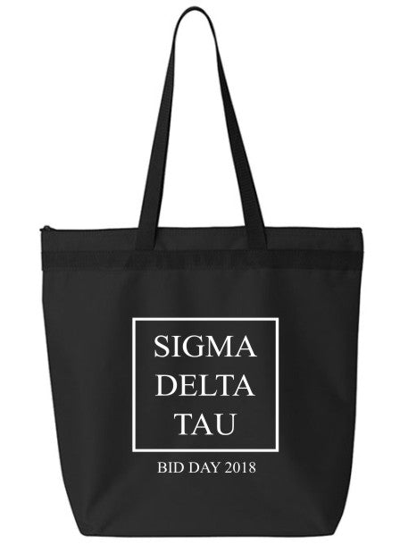 Sigma Delta Tau Box Stacked Event Tote Bag