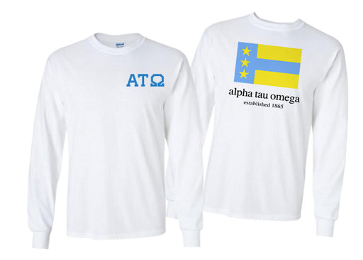 Alpha Tau Omega Long Sleeve Flag Tee
