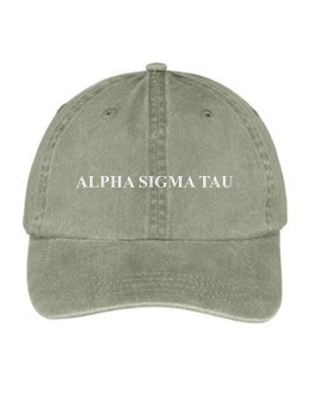 Alpha Sigma Tau Embroidered Hat