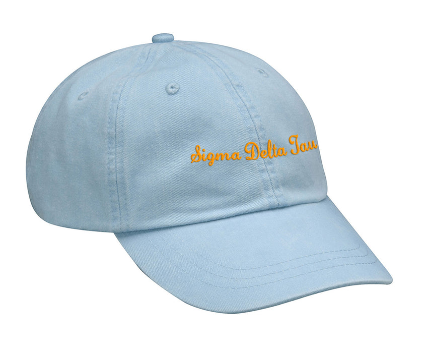 Sigma Delta Tau Cursive Embroidered Hat