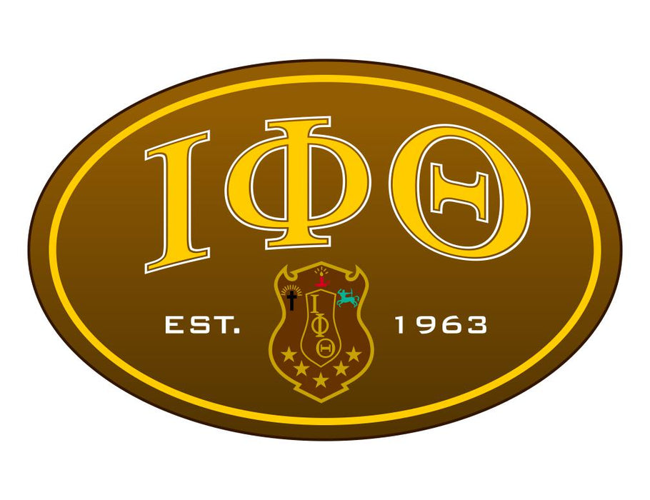 Iota Phi Theta Color Oval Decal