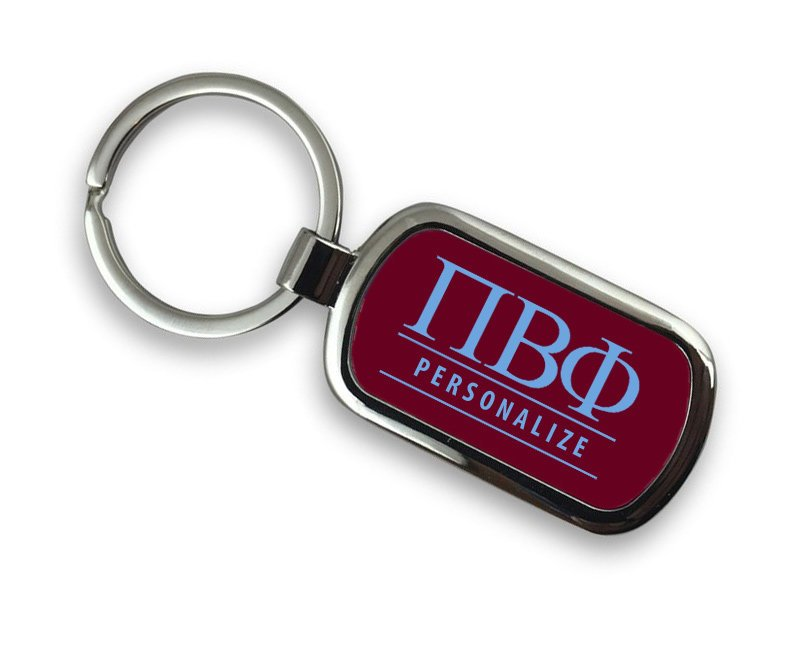 Pi Beta Phi Chrome Key Chain