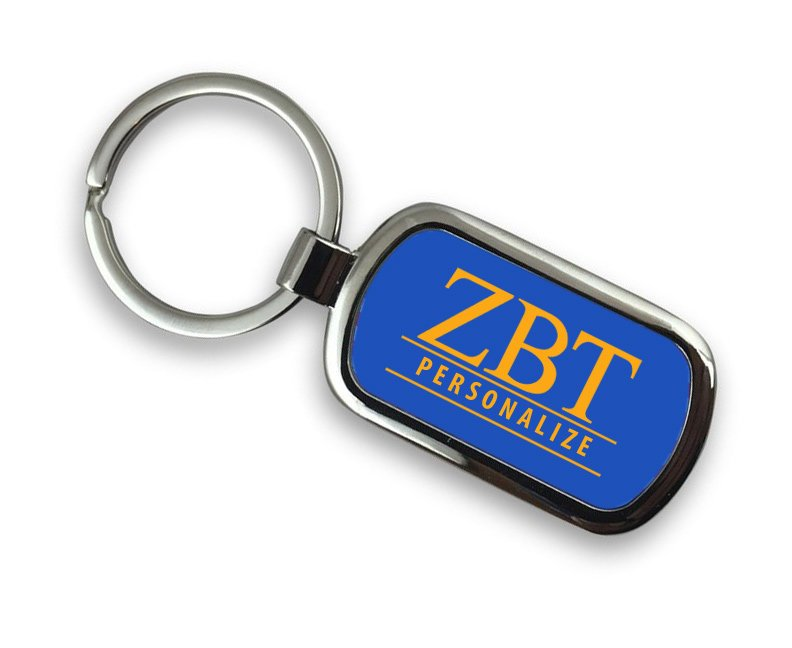 Zeta Beta Tau Chrome Key Chain