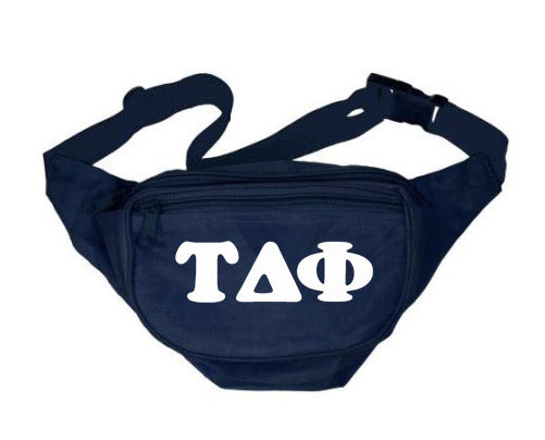 Tau Delta Phi Letters Layered Fanny Pack