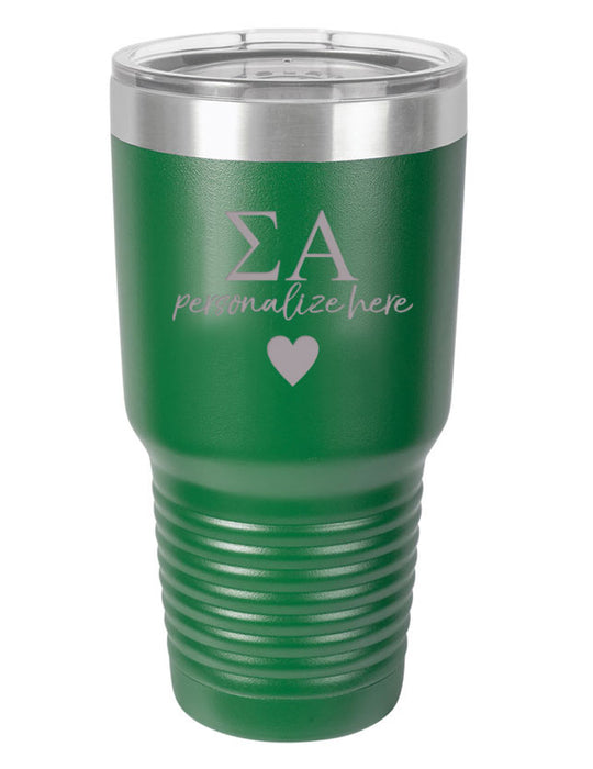 Sigma Alpha Vacuum Insulated Tumbler