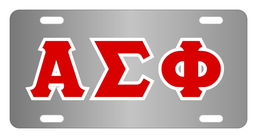 Alpha Sigma Phi Fraternity License Plate Cover