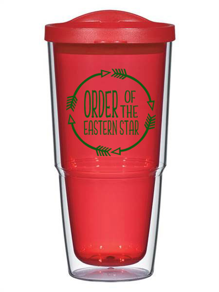 Order Of The Eastern Star Circle Arrows 24 oz Tumbler with Lid