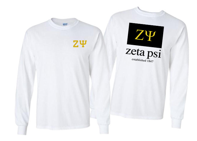 Zeta Psi Long Sleeve Flag Tee
