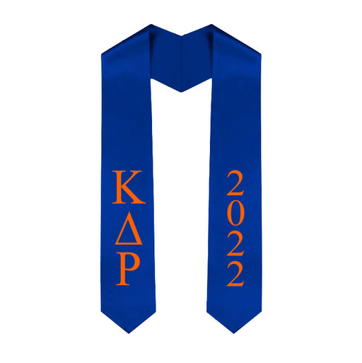 Kappa Delta Rho Vertical Grad Stole with Letters & Year