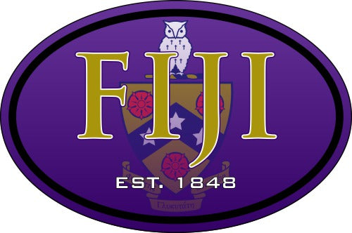 Phi Gamma Delta Color Oval Decal