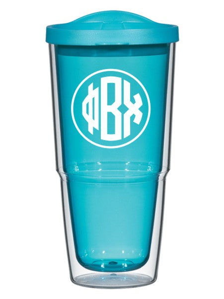 Phi Beta Chi Circle Arrows 24 oz Tumbler with Lid