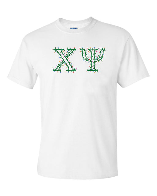 Chi Psi Holiday Lights Crew Tee