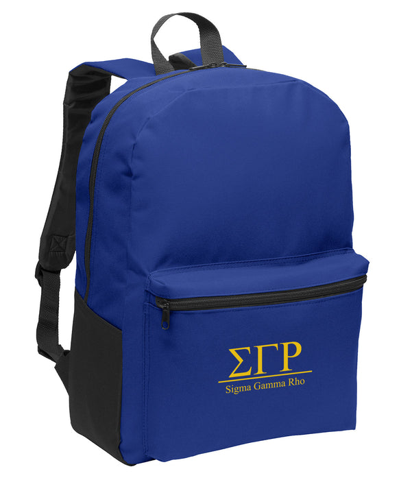 Sigma Gamma Rho Collegiate Embroidered Backpack