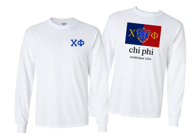 Chi Phi Long Sleeve Flag Tee