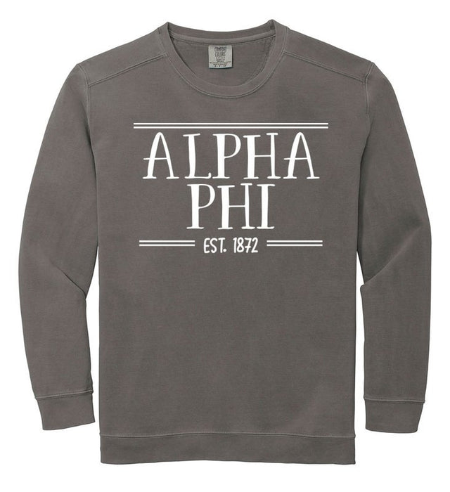 Alpha Phi Comfort Colors Custom Sorority Sweatshirt