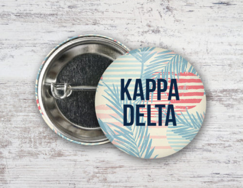 Kappa Delta Paradise Found Button