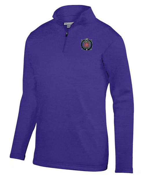 Omega Psi Phi Crest Moisture Wicking Fleece Pullover