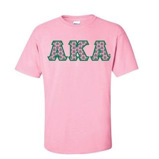 Alpha Kappa Alpha The Best Shirt with Sewn-On Letters