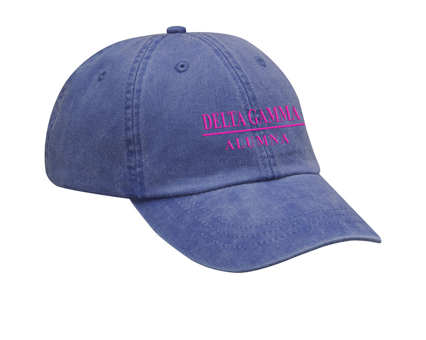 Delta Gamma Line Year Embroidered Hat