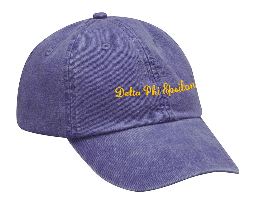 Delta Phi Epsilon Cursive Embroidered Hat
