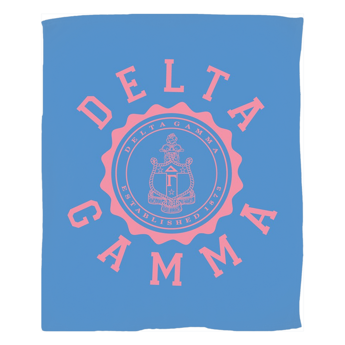 Delta Gamma Seal Fleece Blankets Delta Gamma Seal Fleece Blankets