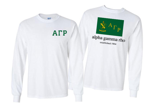 Alpha Gamma Rho Long Sleeve Flag Tee