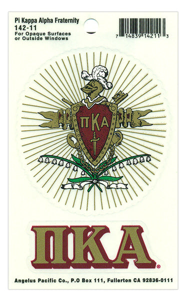 Pi Kappa Alpha Crest Decal