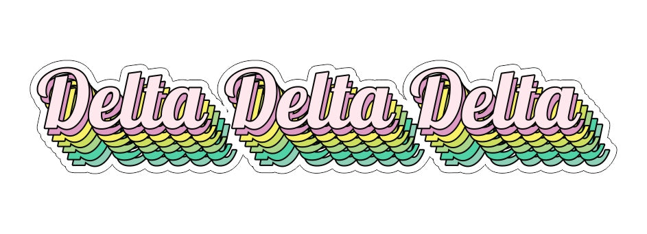 Delta Delta Delta New Hip Stepped Sticker