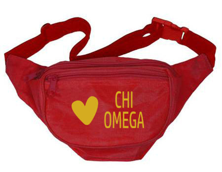 Chi Omega Heart Fanny Pack