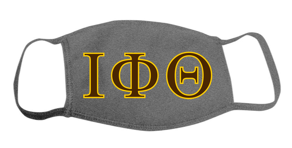 Iota Phi Theta Face Mask With Big Greek Letters