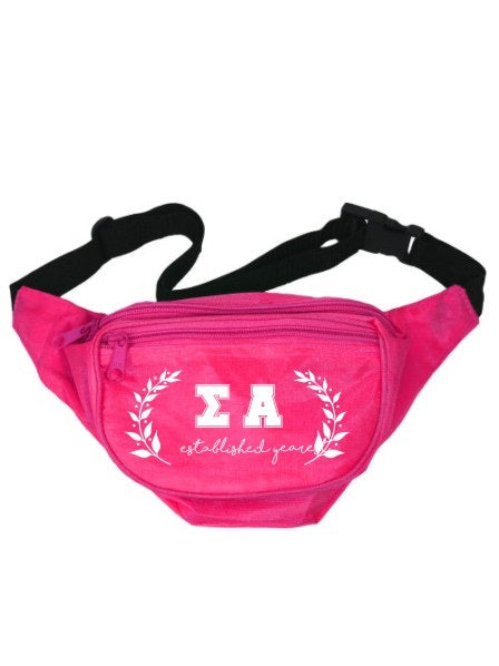 Sigma Alpha Laurel Fanny Pack