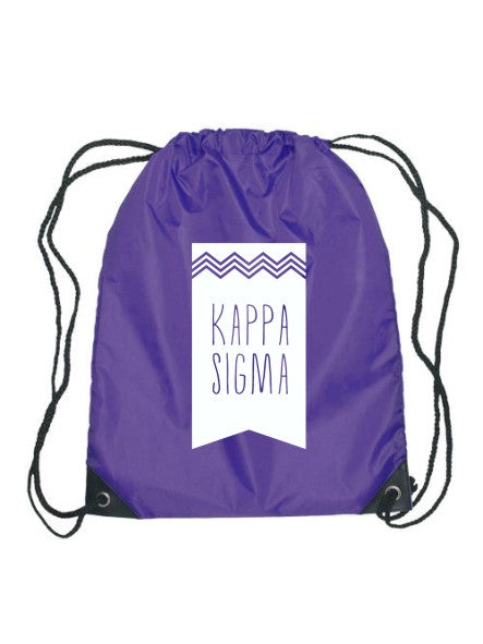Theta Tau Chevron Drawstring Bag