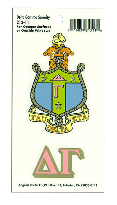 Delta Gamma Crest Decal