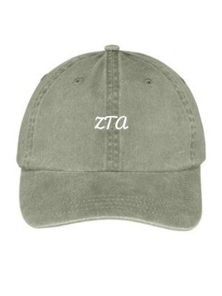 Zeta Tau Alpha Nickname Embroidered Hat