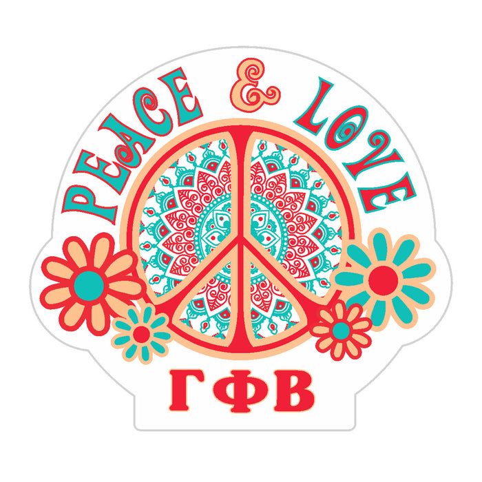 Gamma Phi Beta Peace Sticker