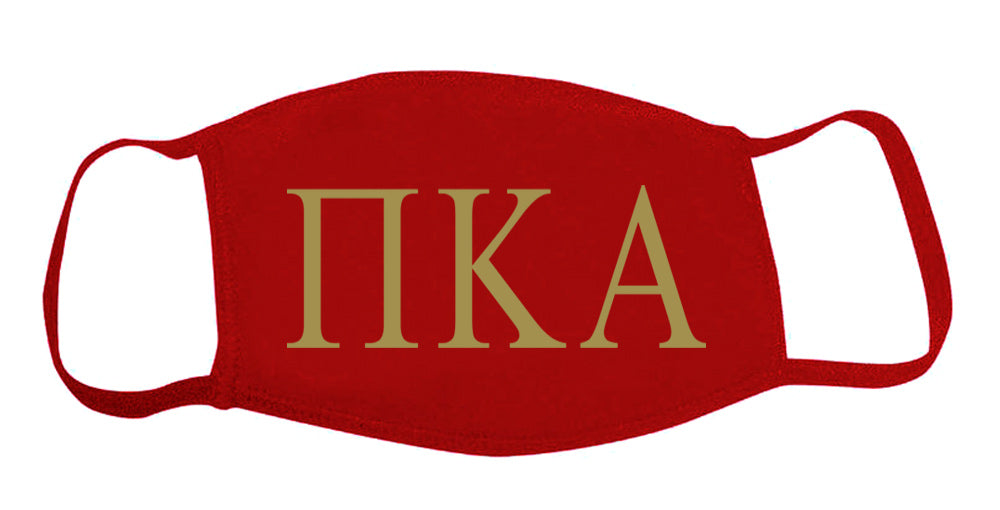 Pi Kappa Alpha Face Mask With Big Greek Letters