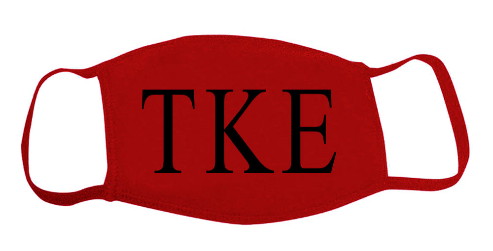 Tau Kappa Epsilon Face Mask With Big Greek Letters
