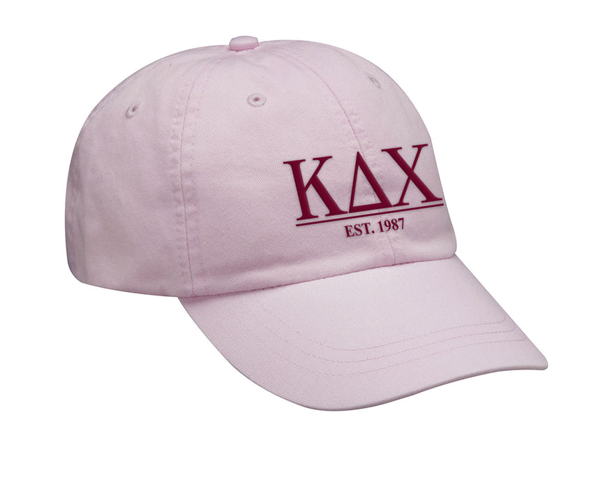 Kappa Delta Chi Letters Year Embroidered Hat