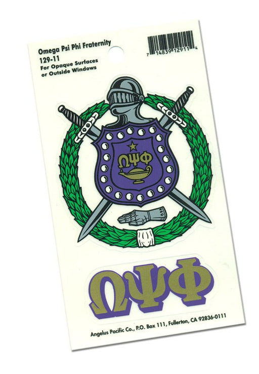 Omega Psi Phi Crest Decal
