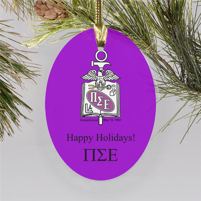 Pi Sigma Epsilon Color Crest Ornament