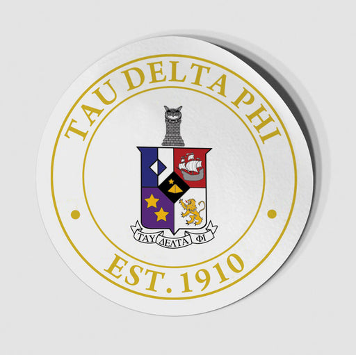 Tau Delta Phi Circle Crest Decal