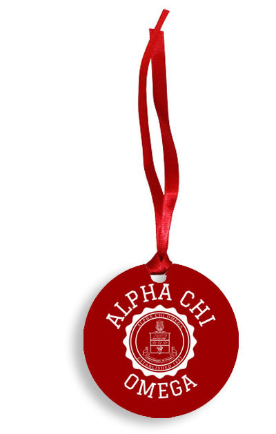 Alpha Delta Chi Crest Ornament