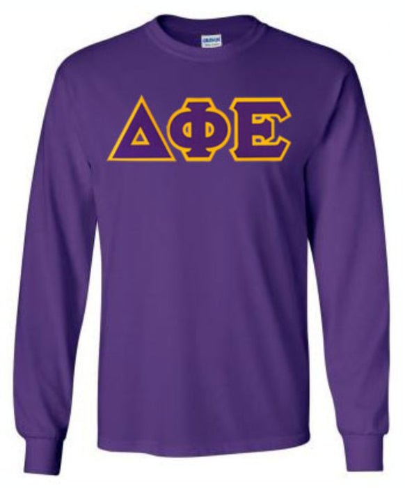 Delta Phi Epsilon Long Sleeve Greek Lettered Tee