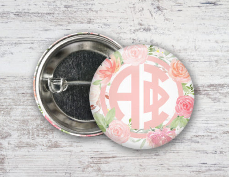 Alpha Phi Pretty in Pink Button
