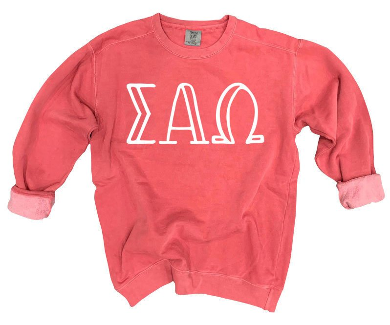 Sigma Alpha Omega Comfort Colors Greek Letter Sorority Crewneck Sweatshirt