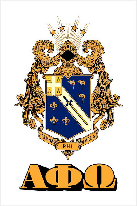 Alpha Phi Omega Crest Window Decals Stickers Crest Decal