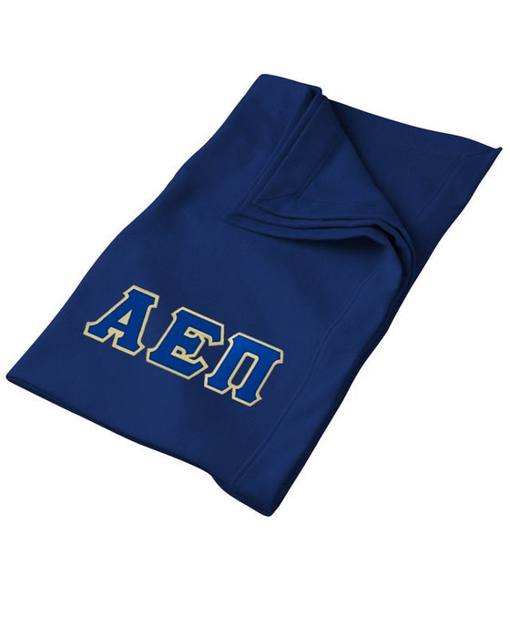 Alpha Epsilon Pi Greek Twill Lettered Sweatshirt Blanket