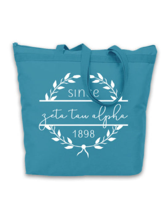 Zeta Tau Alpha Since Established Tote